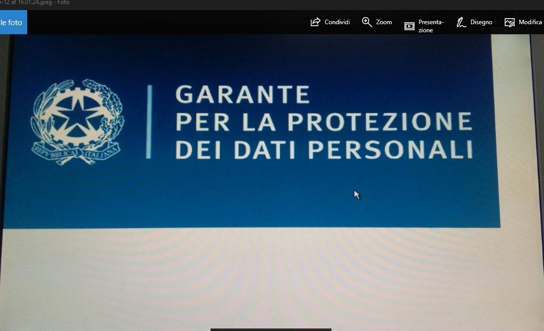 "Garante Privacy: ""Big Data o Big Brother""?"